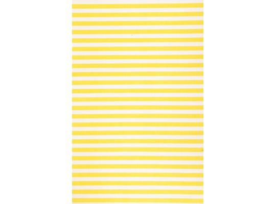 Látka-bavlna-potisk-pruh-žlutá/bílá