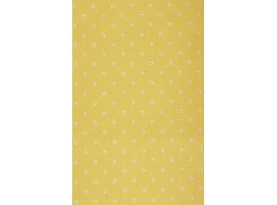 Látka-bavlna-potisk-kytička-žlutá