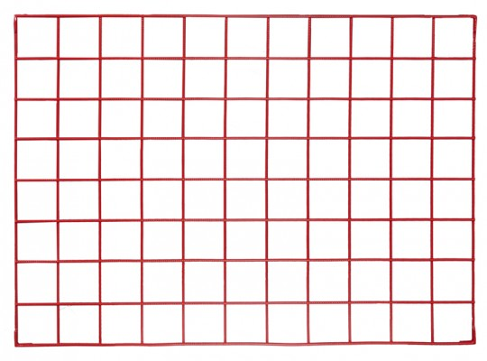 Síť drátěná-110x80cm-nástěnka dekorační-červená