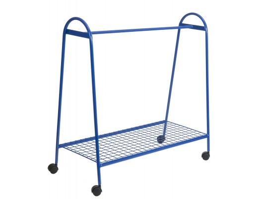 Věšák drátěný-pojízdný-modrý
