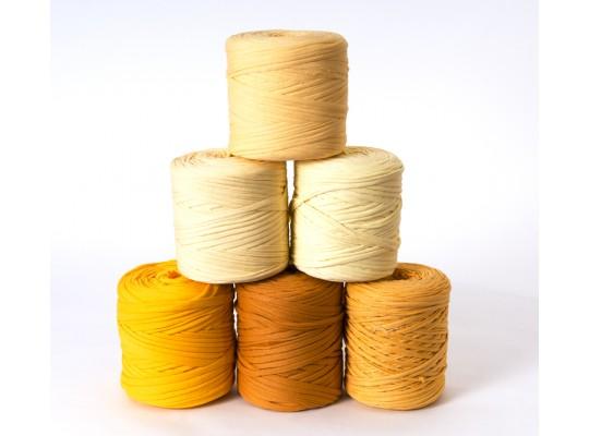 Špagát textilní/příze-10mm-žlutá