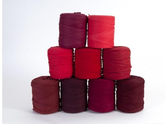 Špagát textilní/příze-10mm-červená