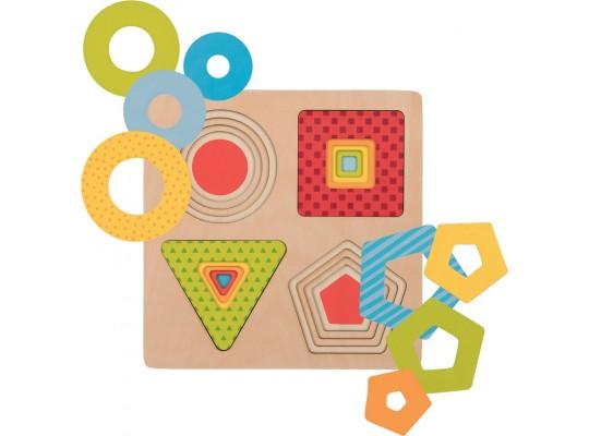 Puzzle dřevěné vícevrstvé-tvary