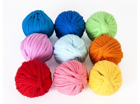 Špagát textilní/příze-10mm-barevné-9x6m-sada
