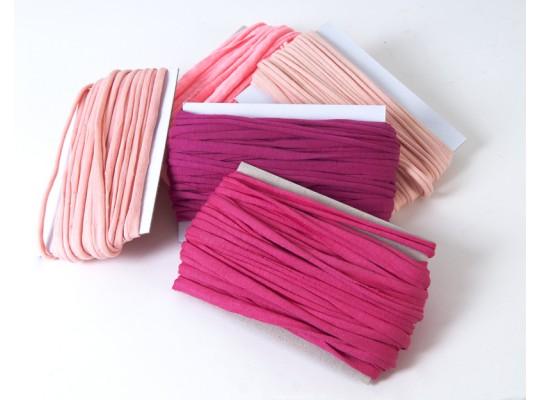 Špagát textilní/příze-10mm-růžová