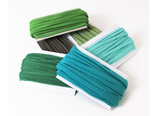 Špagát textilní/příze-10mm-zelená