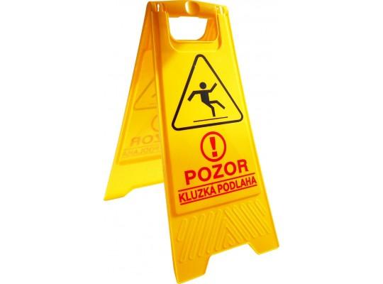 Stojan skládací-tabule výstražná-Pozor kluzká podlaha