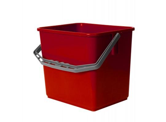 Kbelík plastový-červený-6l