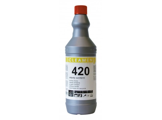 Prostředek čisticí a mycí-Cleamen 420-odpady-sanitární