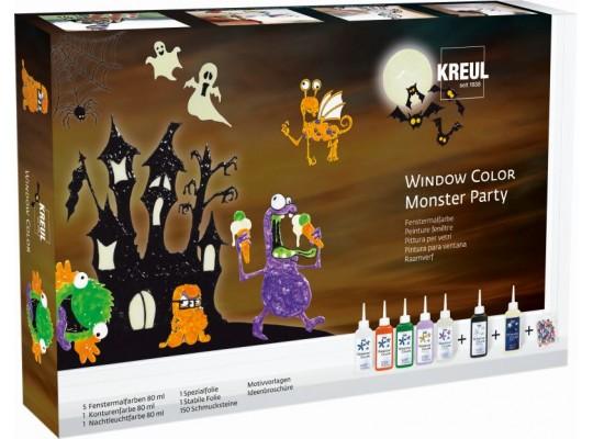 Barvy na sklo-Kreul-Monster party-sada-8s