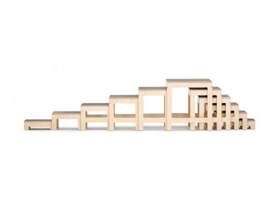 Stupínky-schody balanční dřevěné-přírodní-otevřené