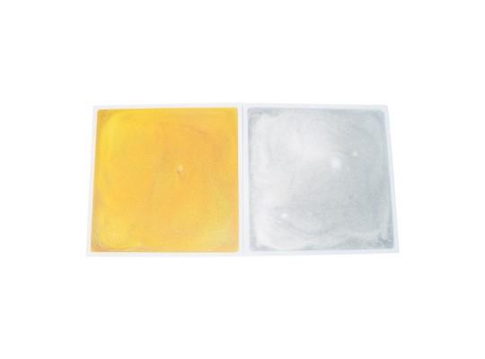 Deska-efekt barevný-třpytky stříbrné