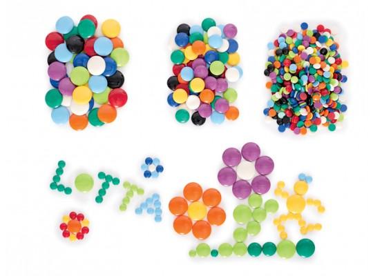 Kamínek plastový-kulatý-barevný-pr.1cm