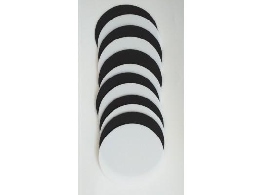 Značka pěnová-kruh-pr.24cm-bílá/černá