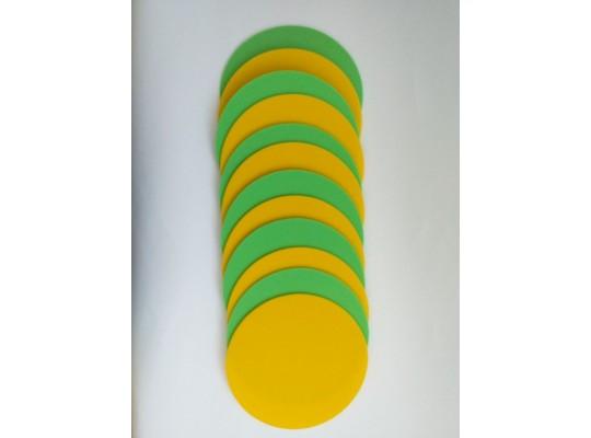 Značka pěnová-kruh-pr.24cm-zelená/žlutá