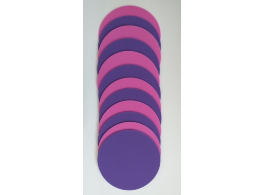 Značka pěnová-kruh-pr.24cm-fialová/růžová