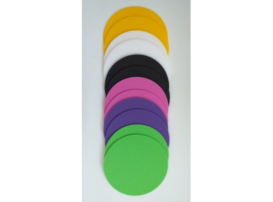 Značka pěnová-kruh-pr.24cm-směs barev