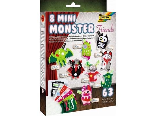 Sada kreativní-šití-mini Monster Friends-sada-8ks