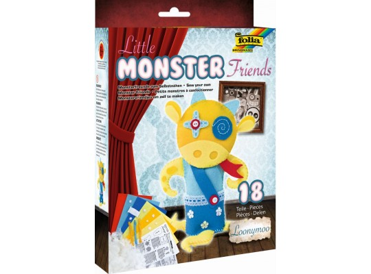 Sada kreativní-šití-Little Monster Friends-Loonymoo-16x25cm-18dílů