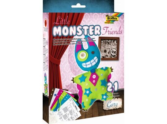 Sada kreativní-šití-Little Monster Friends-Gary-16x26cm-21dílů