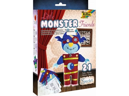 Sada kreativní-šití-Little Monster Friends-Specter-19x25cm-21dílů