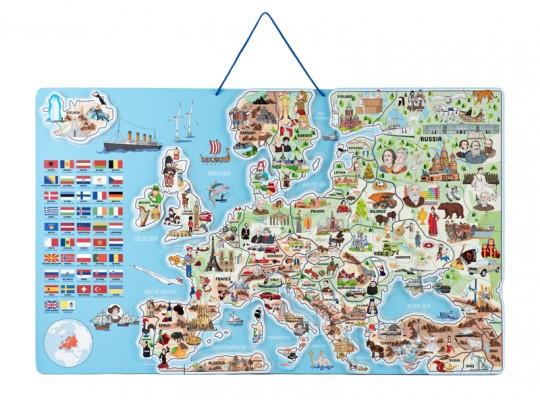 Mapa magnetická-Evropa-3v1