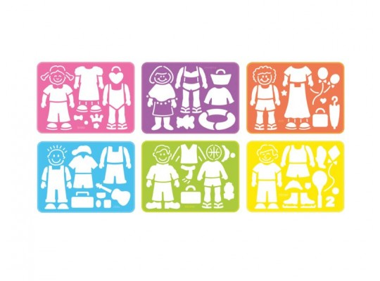 Šablona z plastu-figures&fun