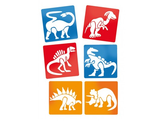 Šablona-z plastu-dinosauři