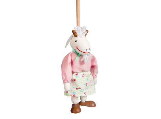 Loutka na tyči-kozička/růžová halenka