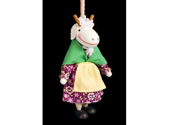 Loutka na tyči-koza