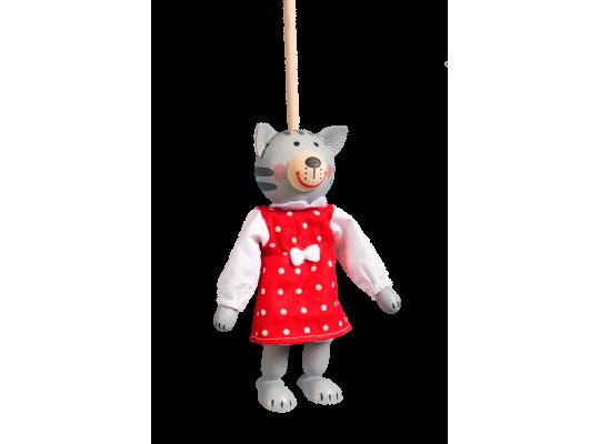 Loutka na tyči-kočička