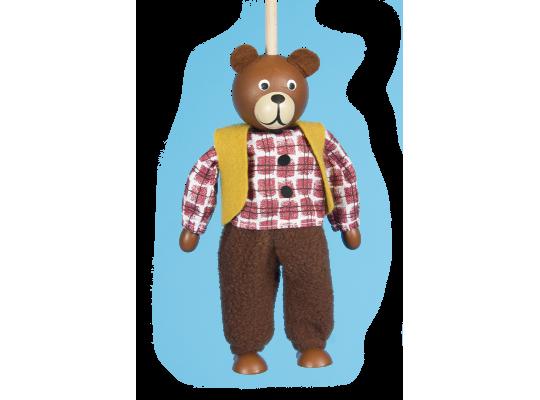 Loutka na tyči-medvěd
