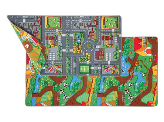 Koberec oboustranný-Město/farma(roztřepený okraj)