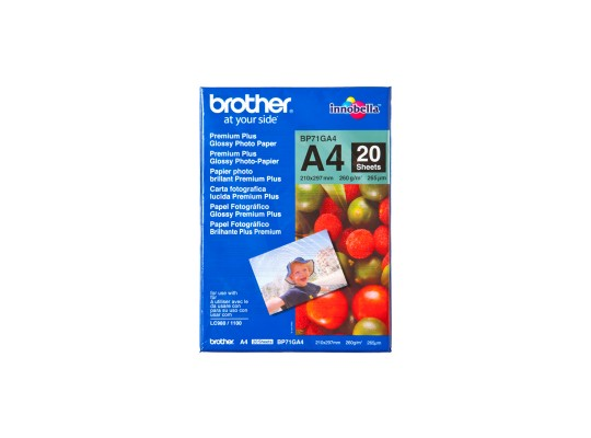 Papír do tiskárny-BP71GA4-Brother-Premium Glossy-originál-A4-260g-20listů