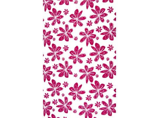Látka dekorační-bavlna-š.150x100cm-potisk-květina-červená-bílá
