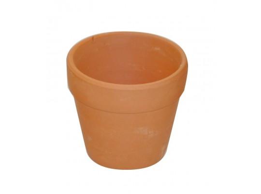Květináč terakotový-střední  6 x 4/ 6,7 cm