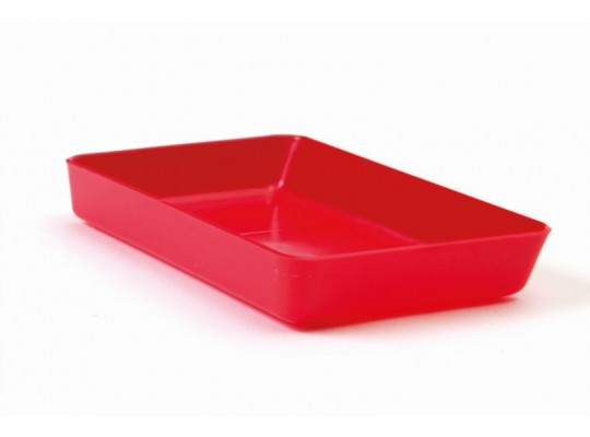 Miska obdélníková-červená