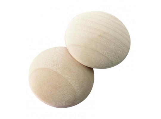 Buton dřevěný - přírodní-3cm