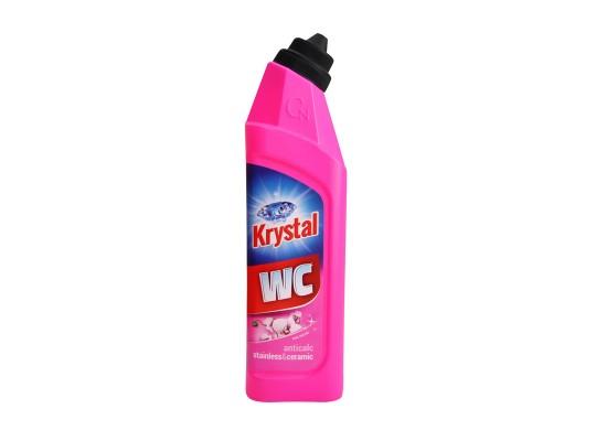 WC čistič-Krystal-kyselý-nerez-keramika-růžový