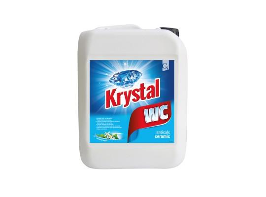 WC čistič Krystal kyselý-keramika-modrý-kanystr