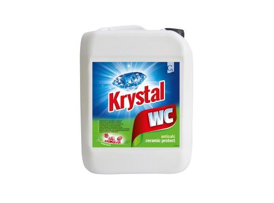 WC čistič Krystal kyselý-keramika-zelený-kanystr
