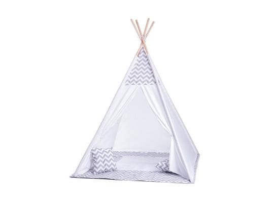Stan dětský-TeePee-bílý/šedý
