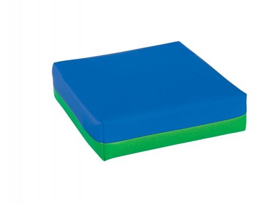 Polštářek sedací-koženka-28x28x5cm-modrá/zelená