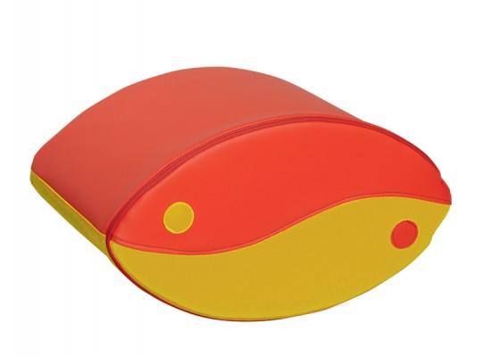 Blok houpací-červený/žlutý-velký