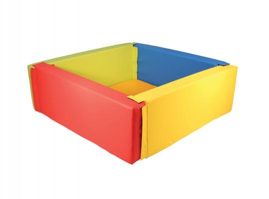 Bazén z PUR pěny-čtverec barevný-malý
