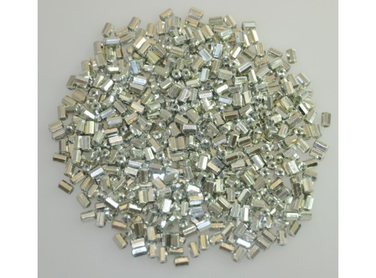 Korálky navlékací-válečky stříbrné