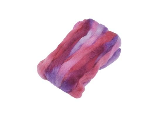 Vlna ovčí melírovaná-růžová/fialová