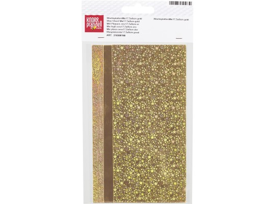 Plát voskový-17,5x8cm-zlatý-holografický