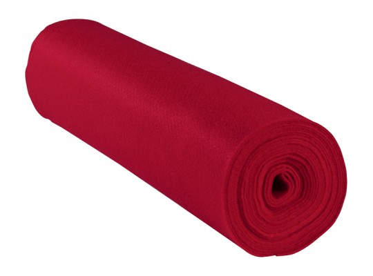 Filc v roli-červený-1mm/500x45cm