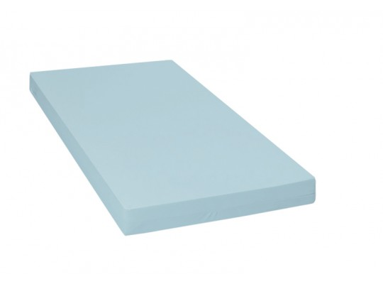 Matrace dětská-PUR pěna-130x60x10cm-PU210 modrá světlá/protiskluz